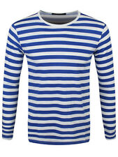 New Striped Royal and White Long Sleeved T-Shirt