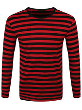 New Striped Red and Black Long Sleeved T-Shirt