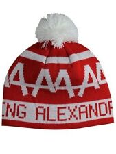 Asking Alexandria Logo Red Bobble Beanie Hat - NEW & OFFICIAL