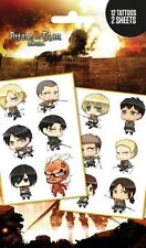 Attack on Titan Chibi Characters Temporary Tattoo Pack 10x17cm