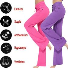 New Womens Plus size Loose Leggings YOGA Pants Runnning Workout High Waist Pants