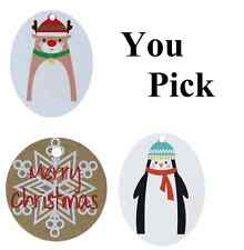 You Pick Paper Labels Christmas Tags Xmas Reindeer Penguin Snowflake Gift Card