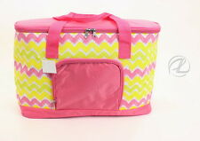 Insulated Grocery Bag Cooler Large Beach Picnic Bag NEW Pink Plastic Canvas NWT