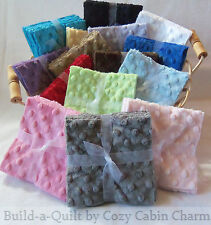 """6 ~ 6.5"""" Shannon Minky Dot Precut Fabric Squares *16 Color Choices* FREE SHIP"""