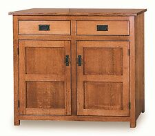 Amish Mission Pie Safe Solid Wood Door Panels Kitchen Pantry Cupboard Shelves