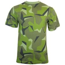 SWEDISH Army Camo Short Sleeve T-shirt - ALL SIZES - Camouflage Tops
