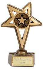 EUROPA GOLDEN STAR TROPHY INCLUDING YOUR ENGRAVING NEW Choice of 3 Sizes