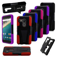 Hybrid Shockproof Heavy Duty Rubber Dual Layer Hard Case Cover for LG Nexus 5X