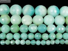 Natural Amazonite Gemstone Faceted Round Beads 16'' 2mm 4mm 6mm 8mm 10mm 12mm