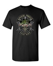 Military T-Shirt De Oppresso Liber Silent Death Special Forces Shirt Skull (645)