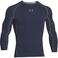 Under Armour Mens Hg Long Sleeve Compression Shirt Navy