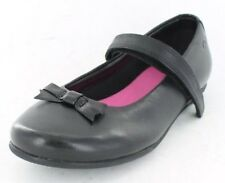 Clarks Daisy Meadow Girls Black Leather School Shoes UK 7 - 12 E-F