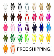 30 Colors Youth Mens Women Clip-on Suspenders Elastic Y-Shape Adjustable Elastic
