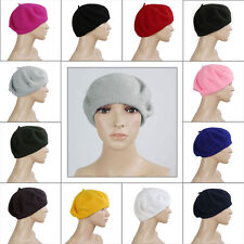 LADIES BERET FRENCH STYLE FASHION WOOL HAT WOMEN'S UNISEX CAP WINTER ACCESSORY