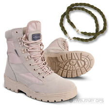 ARMY DESERT COMBAT PATROL BOOT SAND TAN BEIGE LEATHER SUEDE WITH TWISTS