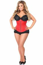 Daisy Corsets Top Drawer Red Brocade Steel Boned Underbust Corset