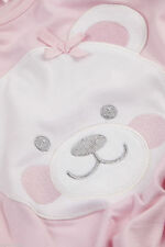 Girls Teddy Bear Snuggle Fleece Bath Robe Dressing Gown Pink PJS Pyjama Set 2-6Y