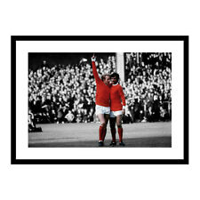George Best and Denis Law Manchester United Legends Spot Colour Photo (SPOT647)
