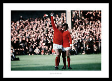 George Best and Denis Law Manchester United Legends Photo Memorabilia (647)