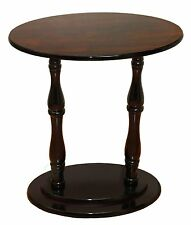 Oval Accent Side End Table, Espresso Brown Finish
