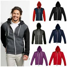 Mens Zip Up Hoodie Womens Plain Hoody Hooded Sweatshirt Top  Plain XS - XXL