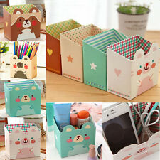 Paper Board Cosmetic Storage Box DIY Makeup Desk Stationery Organizer Pratical