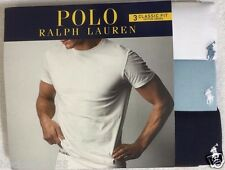 Polo Ralph Lauren 3-Classic Fit Crew Neck T-Shirts  White / Blue / Navy  (1334)