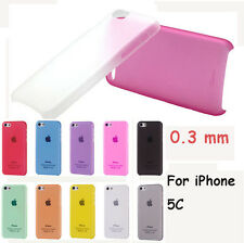HARD SLIM BACK CASE COVER FOR APPLE iPHONE 5c+Free Screen Protector & Cloth Lot