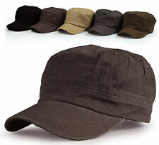 New Men's Cadet Military Hat Trucker Visor Cap Unisex High Quality