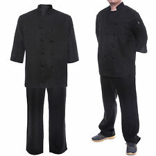 Chef Jacket Chefwear Chefs Coat Food Catering Kitchen Trousers Pants