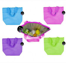 2 x Insulated Picnic Travel Beach Lunch Food Drink Cool Box Cooler Bag Handles