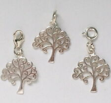 Tree of Life Charm, 925 Sterling Silver Charm for Bracelet, Pendant for Necklace