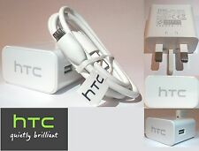 NEW GENUINE HTC TRAVEL WALL MAINS CHARGER & MICRO USB CABLE FOR HTC ONE M9 M8 M7