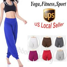 Pretty Women Stretch Plus Size YOGA Pants Aladdin High Waist Sweat Lounge Pants