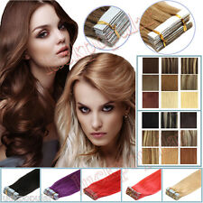 "Tape Hair Extension 18""20""22""24""26'' Tape In Remy Human Hair Skin Weft Brazilian"