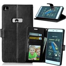 Premium PU Leather Flip Wallet Book Case Cover For Various Huawei Mobile Phone