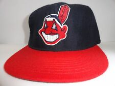 Vintage New Era 59 Fifty MLB Cleveland Indians Youth Baseball Cap Hat Fitted