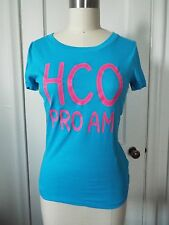 Hollister HCO Pro Am Short Sleeve Scoop Neck T-Shirt Turquoise Blue S, M NWT