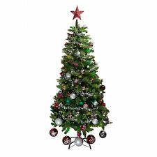 New Traditional 6ft Christmas Tree with Steel stand  Artificial Xmas Trees