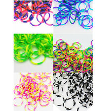 600 pcs Colourful Rainbow Rubber Loom Bands Bracelet Making Kit Set With S-Clips
