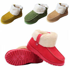 women Winter slippers warm thermal plush Flat shoes buckle skidproof home boots