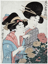 631.Asian Geishas Wall Art Decoration POSTER.Graphics to decorate home office.