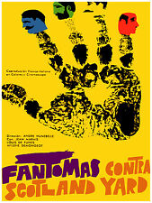 781.Fantomas film Wall Art Decoration POSTER.Graphics to decorate home office