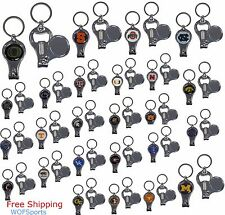 NCAA Licensed Keychain 3 in 1 with Nail Care & Bottle Opener - Assorted Teams