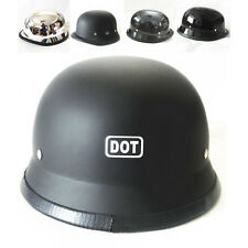 DOT German Motorcycle Cruiser Touring Bike Scooter Chopper Open Face Half Helmet