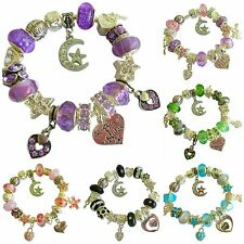 Ladies Girls Charm Bracelet LOVE You To The MOON & Back PERSONALISE Gift BOX