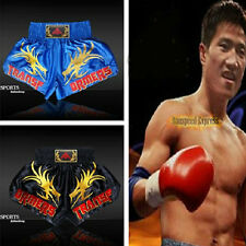 Good Muay Thai Boxing MMA Soft Satin Pants Shorts Competition Exercise Trunks