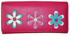 New Womens Mala Leather Large Trifold Purse Style Millie 322967 floral pattern