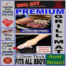 BBQ GRILLING MAT RIGID PREMIUM THICK TEFLON 0.35mm Reusable BBQ COOKING SHEET