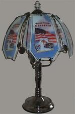 "ORANGE COUNTY CHOPPERS 24"" GLASS PANEL BLACK CHROME FINISH TOUCH LAMP NEW"